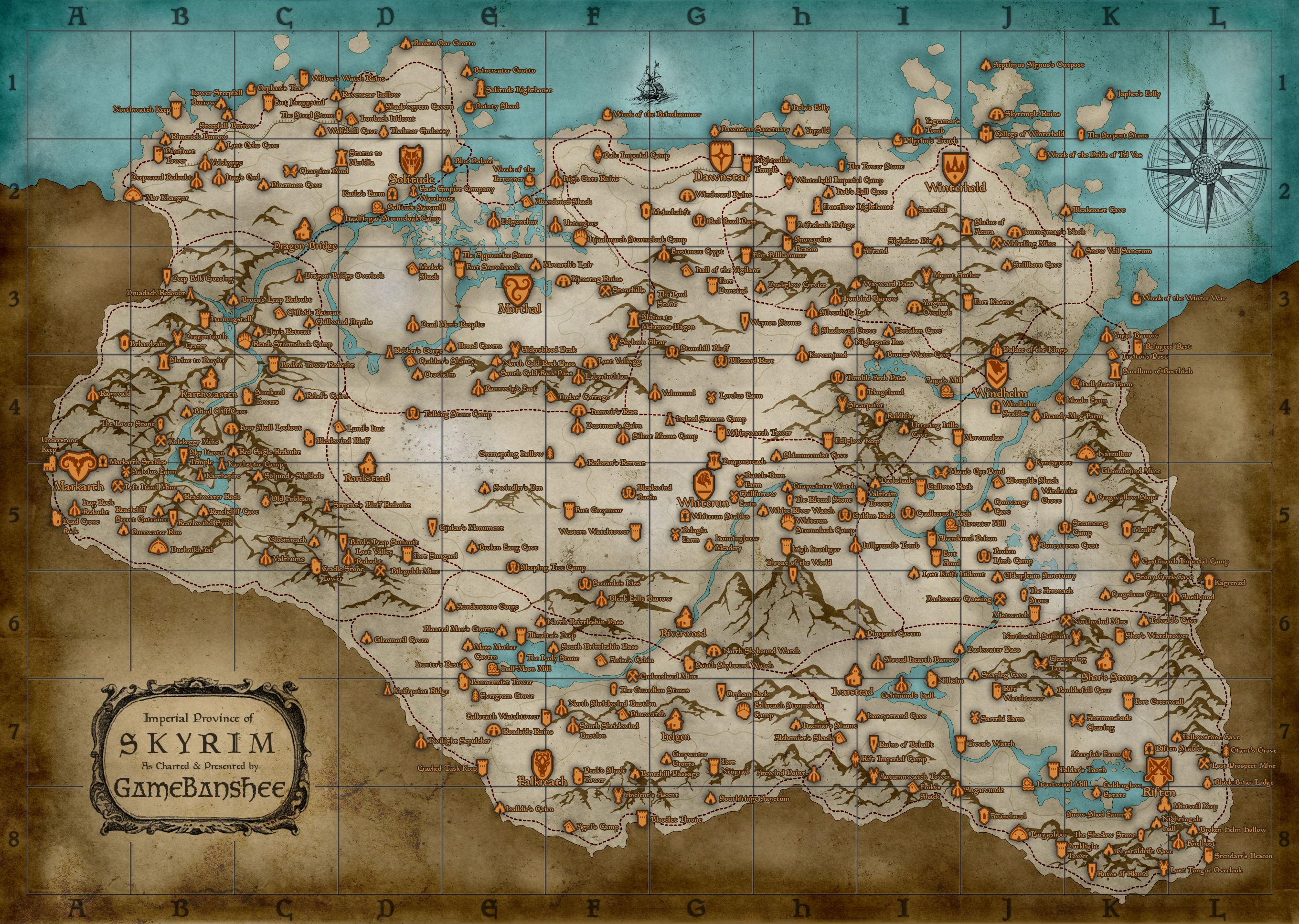Need an elder scrolls v skyrim fully printable pdf world map poster skyrimmapsmallskyrimmapelder scrolls velder scrolls2011world mapposterworldgame gumiabroncs Image collections
