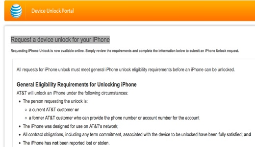 at t iphone unlock request selling your iphone 4 4s you should request to unlock 13510